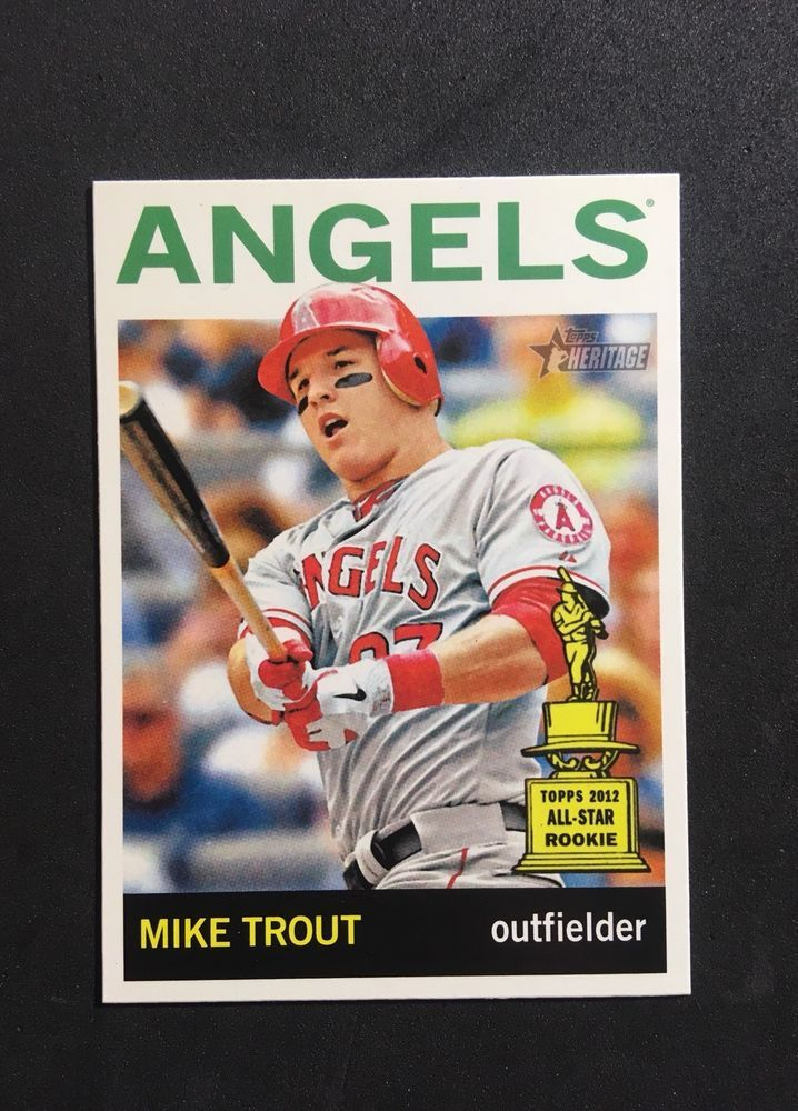 This Is An Extremely Rare 2013 Topps Heritage Mike Trout