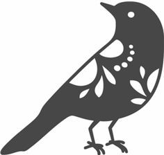 """A Cute """"Bird Silhouette"""" template/stencil/ sjabloon. You can use ..."""