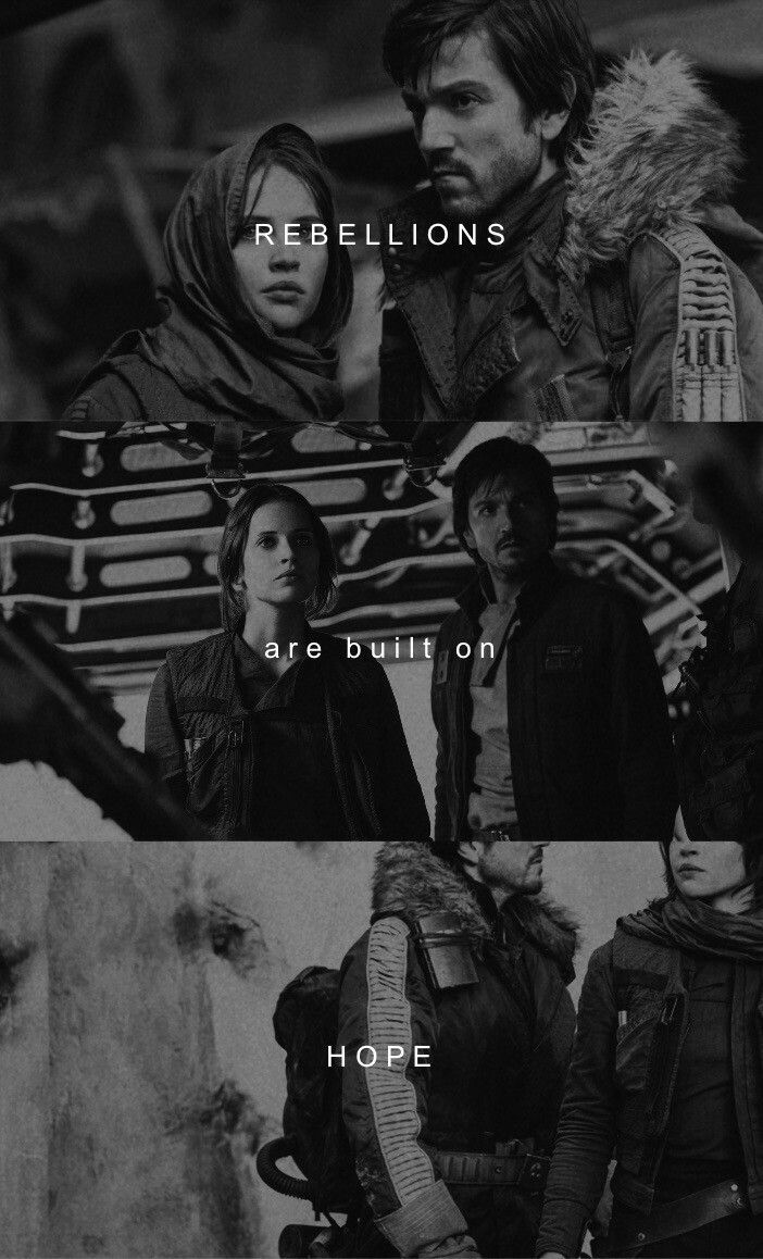 It is absolutely amazing that she echoed his words :) RebelCaptain | Jyn and Cassian | Star Wars | Rogue One tumblr