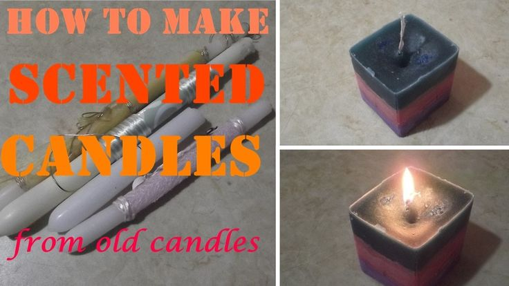 New scented candles from old candles - Νέα αρωματικά κεριά από παλιά κερ...