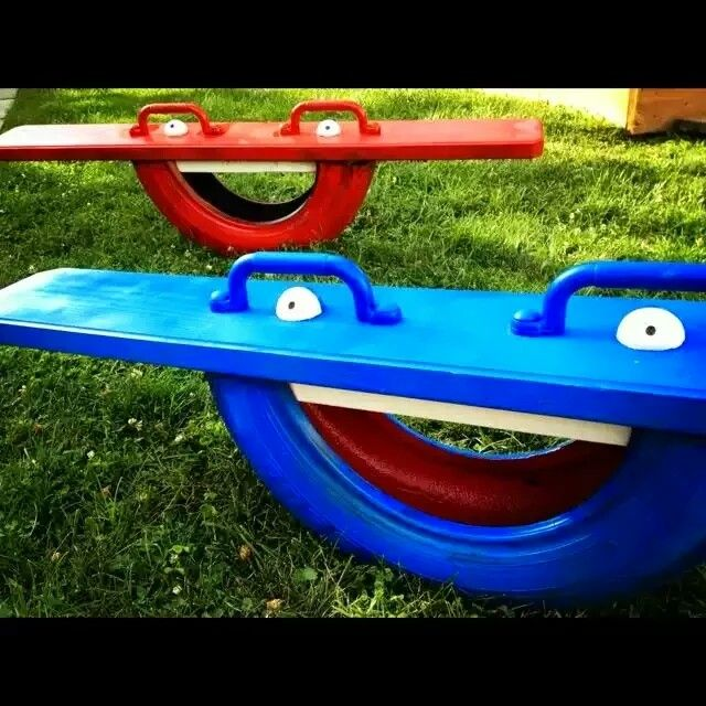 Awesome #upcycle project from MybFixit Up Life for the kiddos: the Tire Totter - http://t.co/OPwF9WvbRc #DIY