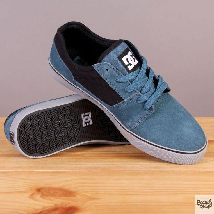 Męskie buty sportowe zamszowe na szarej podeszwie DC Tonik Dark Teal / www.brandsplanet.pl / #dc shoes #skateboarding