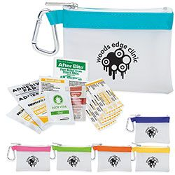 Frosty Stripe First Aid Kit.  For details on how to order this item with your logo branded on it contact ww.fivetwentyfour.ca