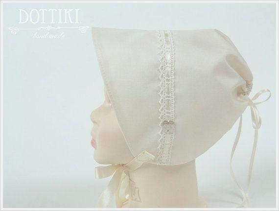 Baby Boy Bonnet Silk Bonnet Baby Hat Baby Cap Silk by DOTTIKI