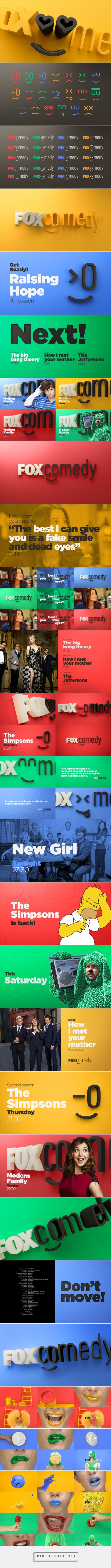 Fox Comedy | Tv Channel Branding - created via https://pinthemall.net