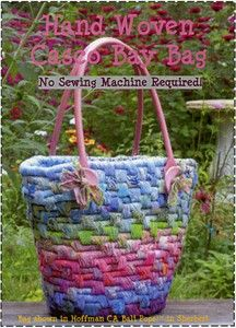 No Sew Easy to make Hand Woven Fabric Baskets & Totes