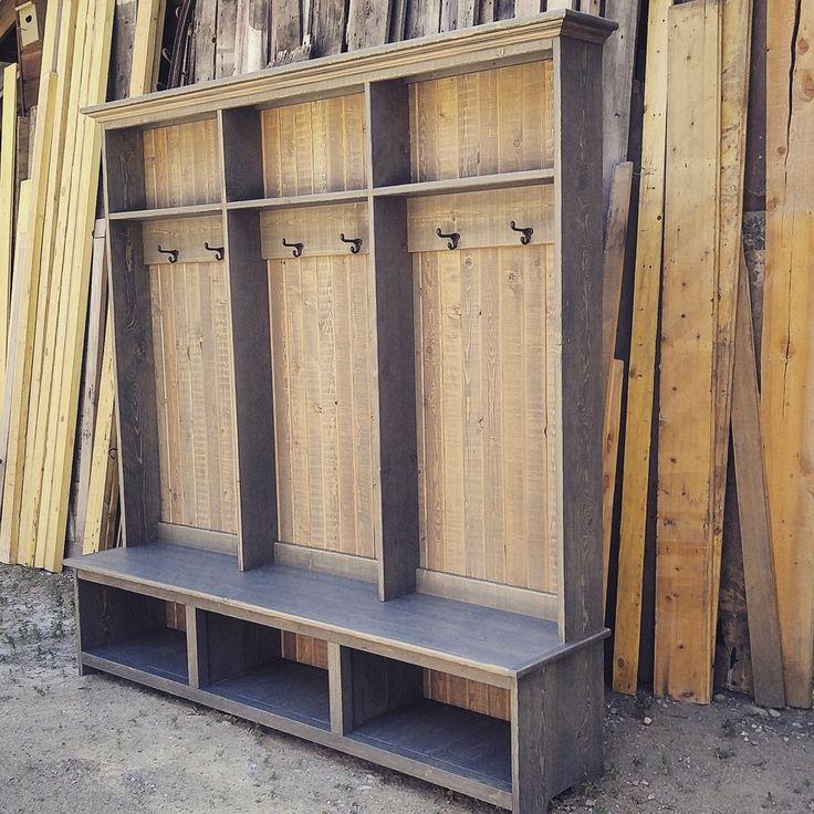 Pin By Lorna Macdougall On Garage Plans: Ghostwood Grey Rustic Hall Tree