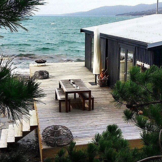 Satellite Island, Tasmania boathouse deck by @tessakavanaghstylist