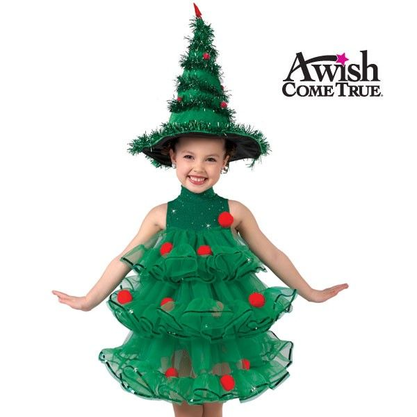 Christmas tree halloween costume. A little too cutsie but I do like the idea of it.