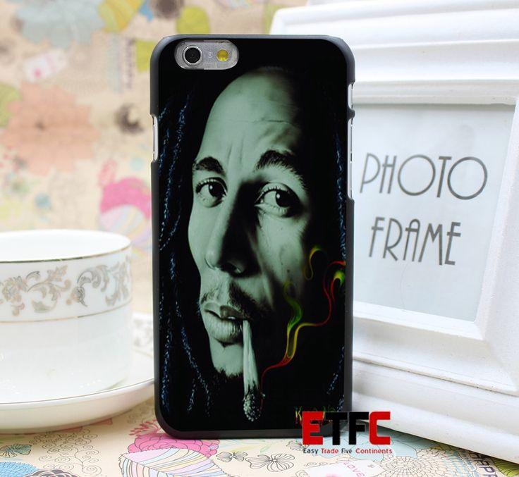 Сбор подписей боб марли раста дым дизайн для iPhone 6 6 плюс жесткий черный кожа чехол обложка