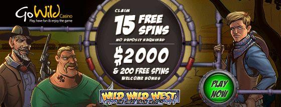 15 Free Spins On Wild Wild West: The Great Train Heist™ At Go Wild Casino!!