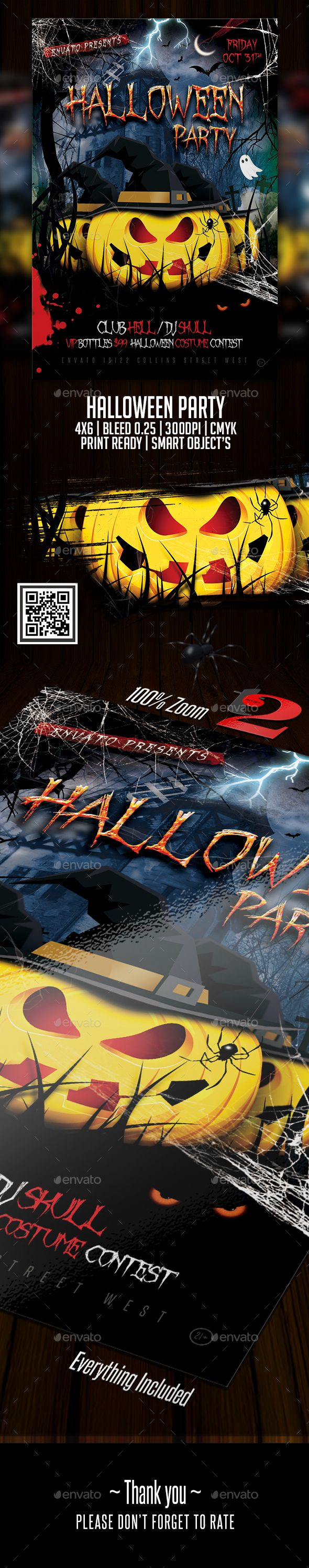 #Halloween Party #Flyer Template - Holidays Events