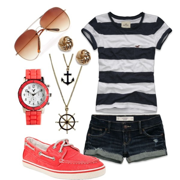 love the coral and stripes