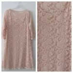 Nude lace dress(Plus size)