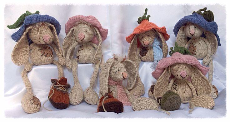 Bunny - knitting pattern via Craftsy.