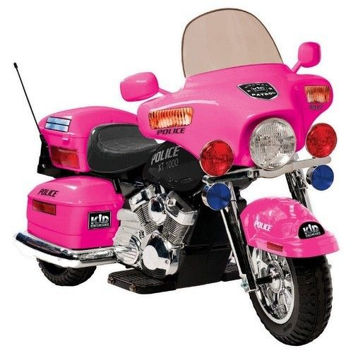 Girls Police Motorcycle Battery Powered Ride On Toy in Pink | eBay http://stores.shop.ebay.com/jodezegiftsnmore what little girl wouldn't want this?