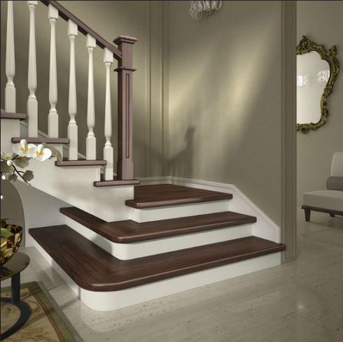 Scale a giorno in legno per interni Mod A Bicolor