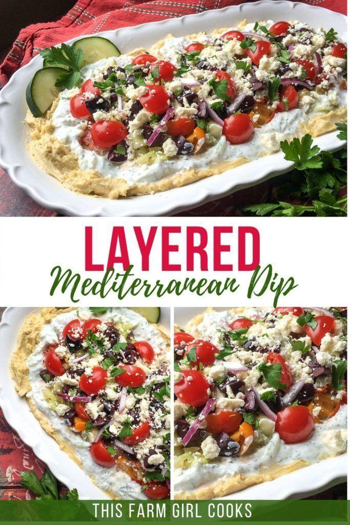 Greek Layered Hummus Dip 7 Layer Hummus Dip Recipe Healthy Snacks Recipes Mediterranean Appetizers Hummus Dip Recipes
