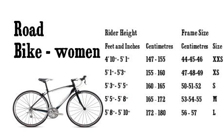 Womens Road Bike Sizing Guide