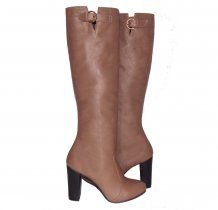 Capuccino Leather High Heel Boots Kali Shoes #boots #kalishoes #highheel