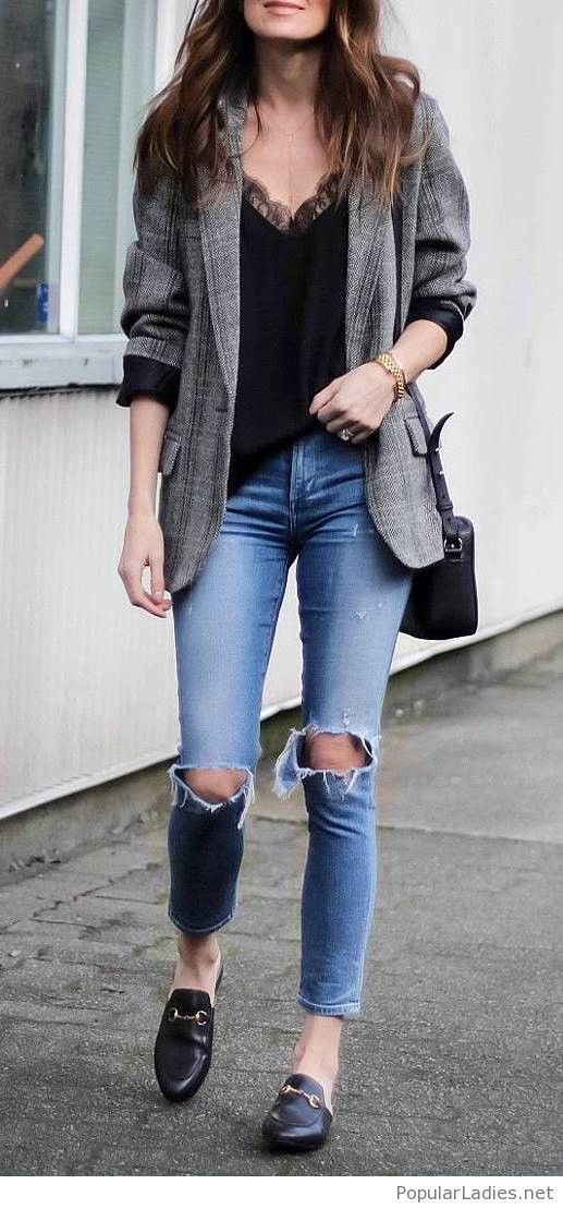 Office style with jeans