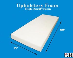 """Seat Foam Cushion Replacement Upholstery Per Sheet - All Sizes! 18""""x60"""""""