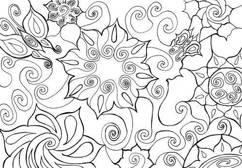 challenging mandala coloring pages - photo#35
