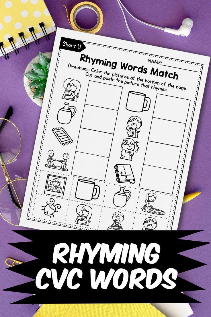 Cvc Rhyming Worksheets For Kindergarten Rhyming Words Worksheets Rhyming Words Worksheets Cvc Words Kindergarten Rhyming Worksheet [ 1104 x 736 Pixel ]