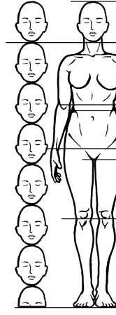 How to draw the human figure - Female Proportions