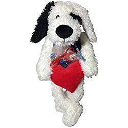 """Patches the Dog 16"""" Stuffed Plush Toy with Heart and Heart Shaped Chocolate Candies Valentine's Day Gift Set"""
