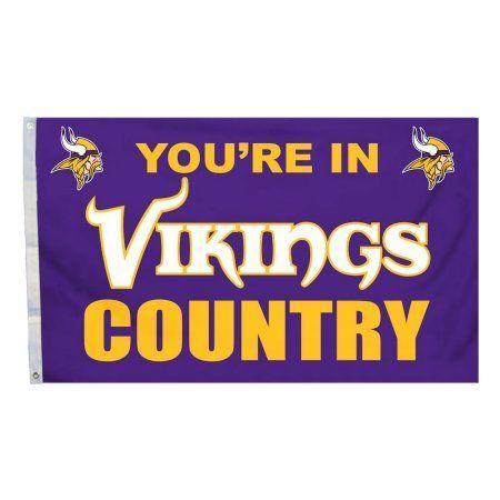 Minnesota Vikings Country 3' x 5' Flag, Multicolor