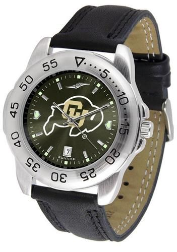 University of Colorado Buffaloes Men's Leather Band Watch