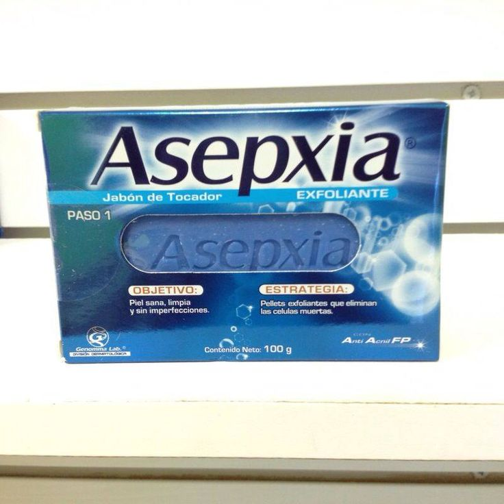 Jabon Asepxia Exfoliante, la combinación de  los ingredientes activos  ayuda a eliminar impurezas acumuladas en la superficie de la piel, disminuyendo de este modo la probabilidad de formación de granos o espinillas y mejorando el aspecto general y la textura de la misma.