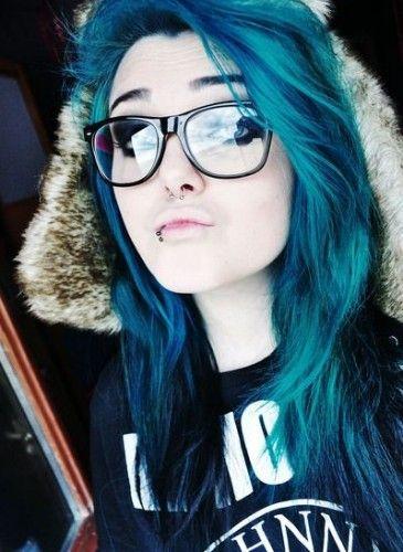 Teen blue hair