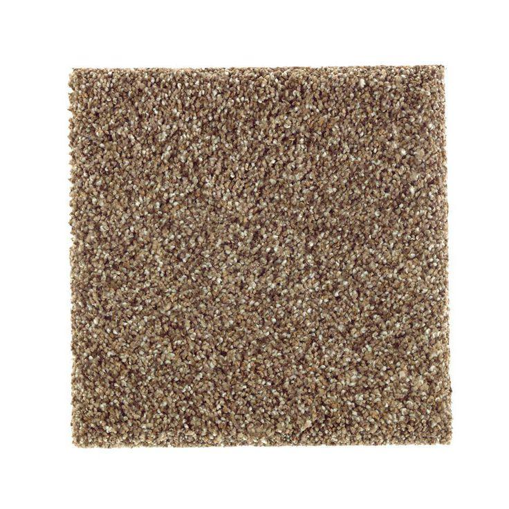 Carpet Sample - Sachet II - Color Squirrel Nest Texture 8 in. x 8 in.