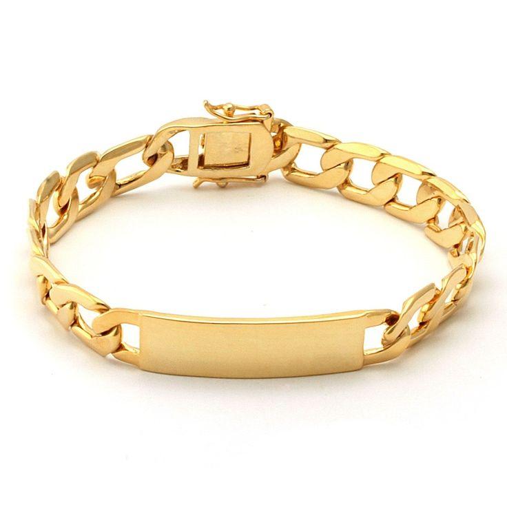 32 best Mens Bracelet Gold Design By menjewell.com images on ...