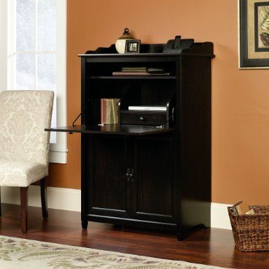 edge water smartcenter secretary in estate black by sauder find this pin and more on computer desks