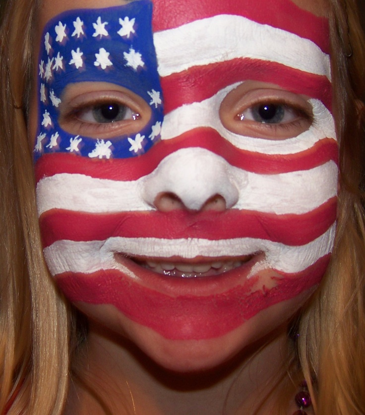 Usa flag face fuck and facial