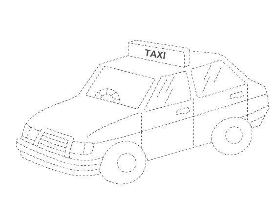 Taksi - Çizgi Çalışması - Okul öncesi çocuklar için güzel bir çizgi çalışması.