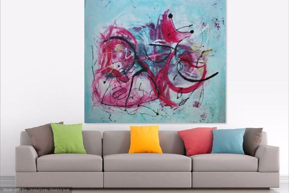 MUSICAL INTERLUDE large abstract painting 160 x 140 CM