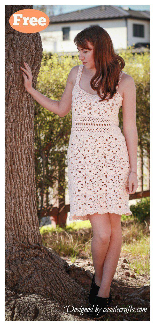 10 Amazing Woman Dress Free Crochet Pattern