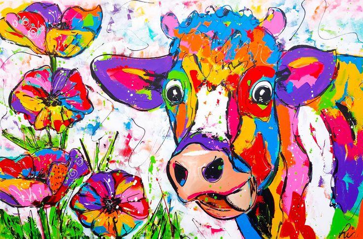 pin biljana macuzic op slikanje koeien schilderen