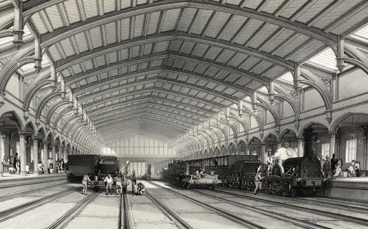 Bristol Train Station 1846 Victorian Edwardian Era