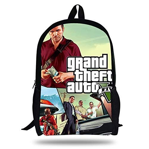 f49ac0a17386 POP Grand Theft Auto Game Printing SchoolBags for Girls Teenagers GTA Fight Bag  Backpack Students Bookbag Hot Kids in 2019