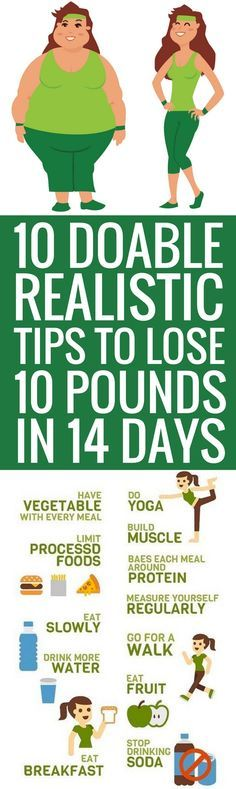 10 realistic ways to lose your last 10 pounds in 14 days.