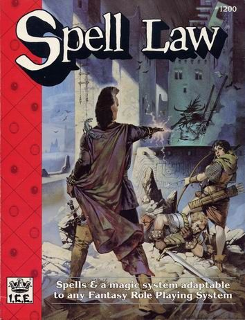 Product Line: Rolemaster  Product Edition: RM2  Product Name: Spell Law  Product Type: RPG Rules  Author: ICE  Stock #: 1200  ISBN: 1-55806-092-8  Publisher: ICE  Cover Price: $14.00  Page Count: 160  Format: Softcover  Release Date: 1989  Language: English