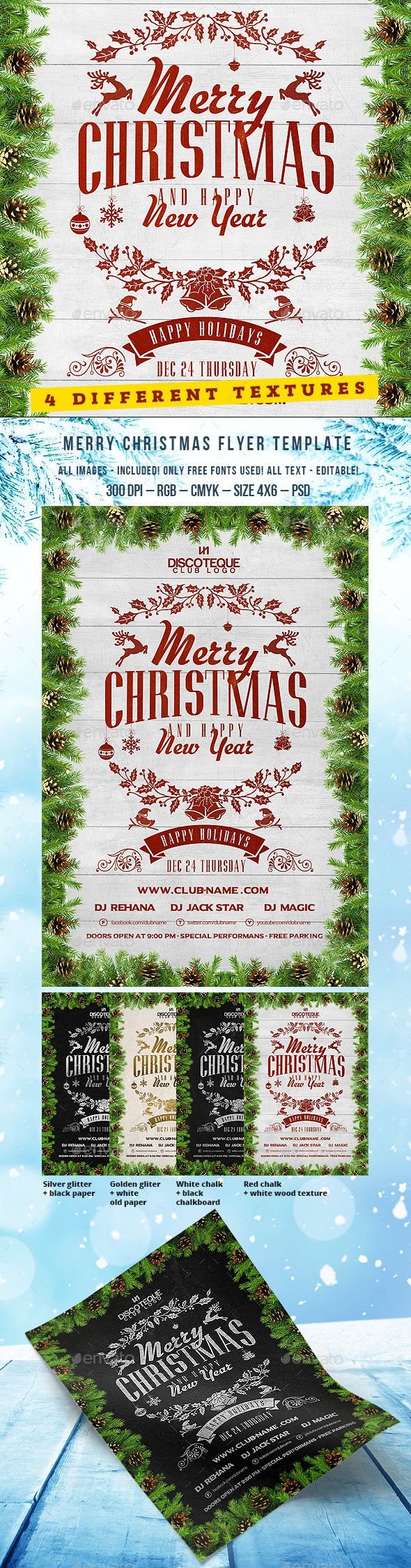 Christmas Flyer 73 best Party design images
