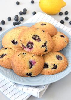 Blauwe bessen-citroen koekjes