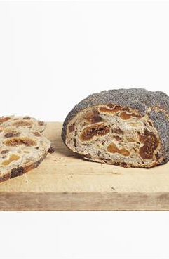 Hope Farm Bakery - Spicy Fruit Sourdough. An excellent toasting bread. Made with organic wheat flour, filtered water, sea salt, spices, sultanas, apples, apricots, dates and figs. #FarmhouseAU #HopeFarmBakery #sourdough #fruit #sultanas #apples #apricots #apricots #dates #figs #bread #foodie