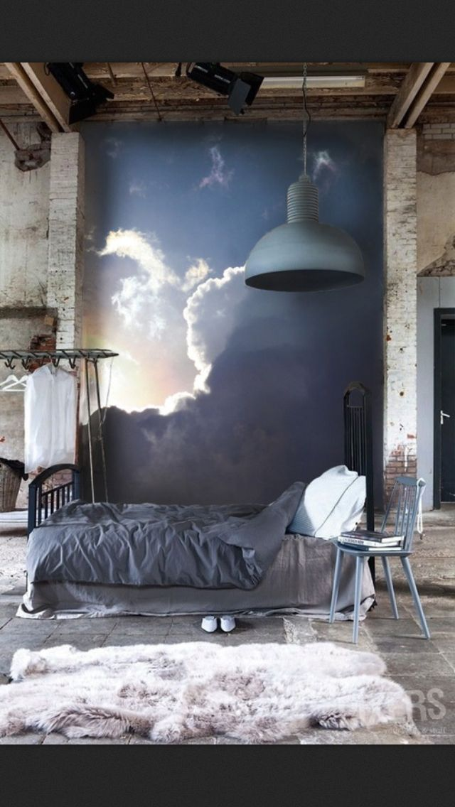 Cloud wall. Slate grey